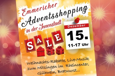 Plakat zum Adventsshopping