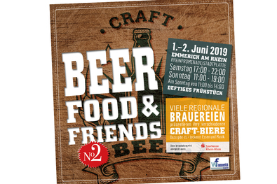 Plakat Bier, Food & Friends